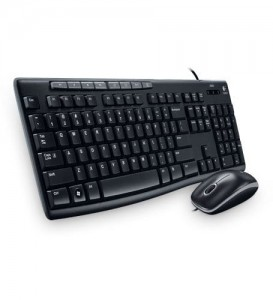 Combo set Logitech MK200 Media Wired Keyboard and Mouse